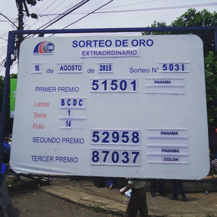 Resultados Loteria de Panama sorteo Extraordinario Nº 5030 del domingo 16 de Agosto 2015.