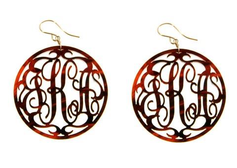 tinytulip.com - Acrylic Rimmed Script Monogram Earrings, $98.00 (http://www.tinytulip.com/acrylic-rimmed-script-monogram-earrings)