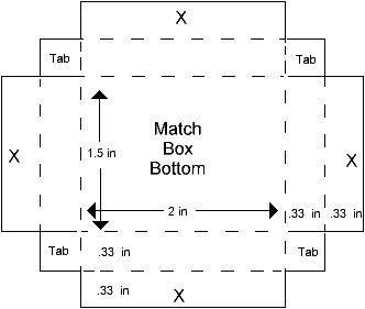 Match Box Template, part 2 – Paperandmore.com  ☀CQ
