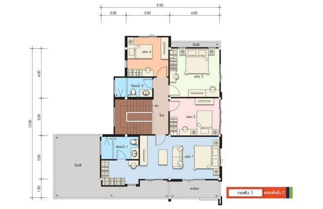 House Design Plan 13x12m With 5 Bedrooms Home Ideassearch Home Design Plans House Design House Floor Plans