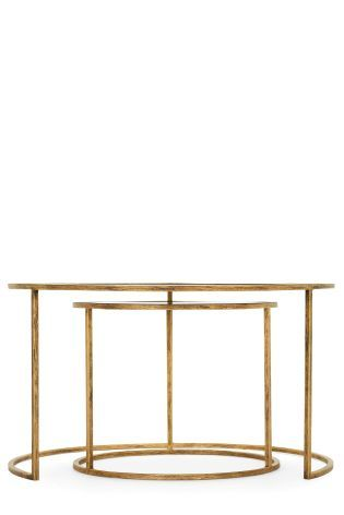 Buy Set Of 2 Circlet Coffee Table Nest From The Next UK Online Shop