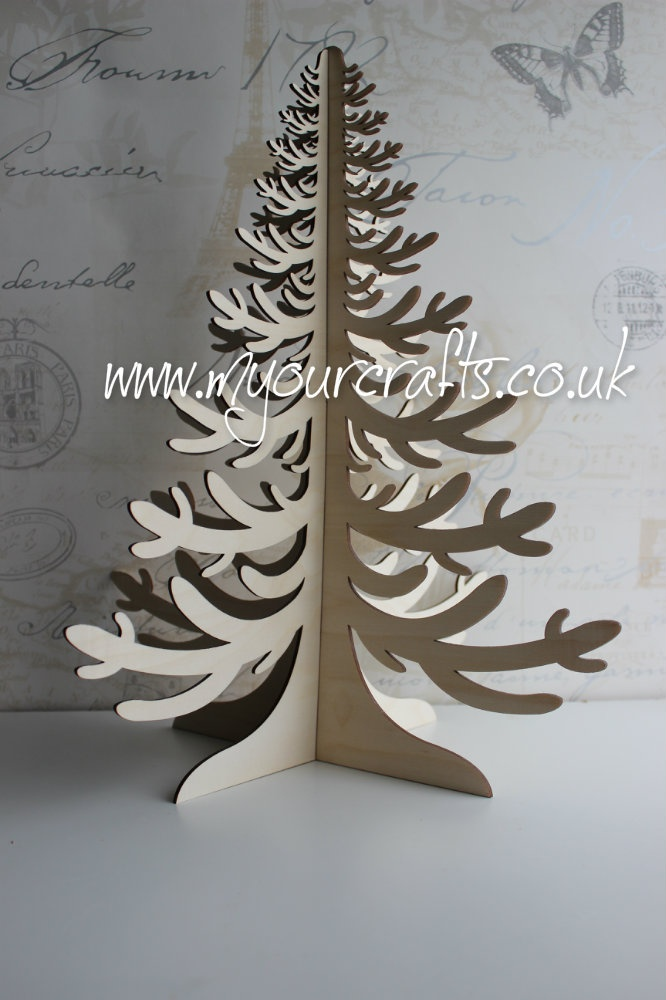 The Family Tree. Basically a wooden free standing 3D tree which can be used for crafts, Christmas,Christening, Easter, birthday,wedding guestbook, jewellery stand. Wishing tree or family tree etc. This one will be perfect for Christmas tree fig tree Also available in other designs at www.myourcrafts.co.uk