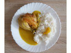 Kuře na cibuli s rýžovými nudlemi bezlepkové recepty, pečené kuře - 2kukurice.cz