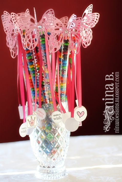 Butterfly Wands.  These were made for a birthday, but I think they could be easily adapted to any holiday.