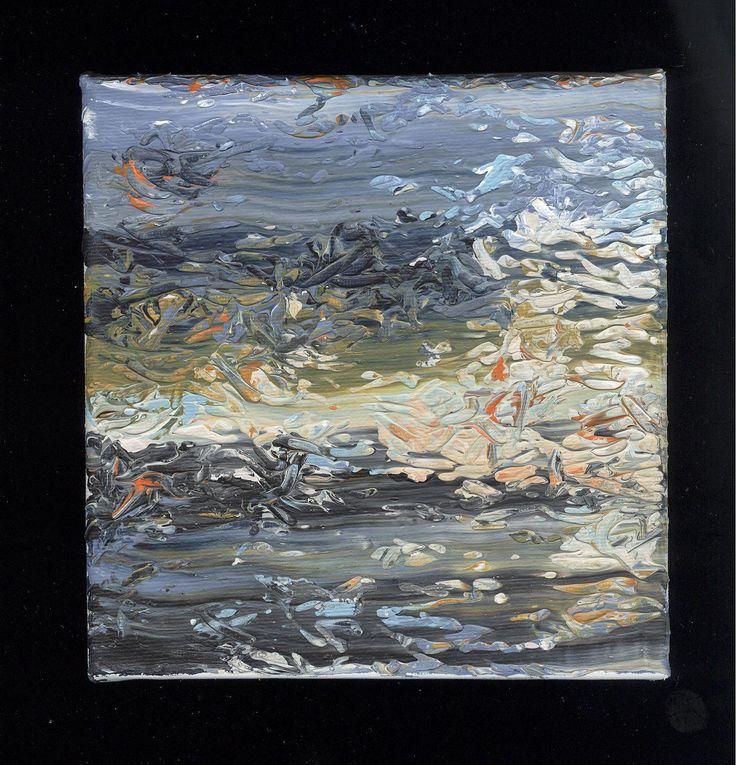 Ohne Titel, Acryl auf Leinwand, 15 x 15 cm, 2017