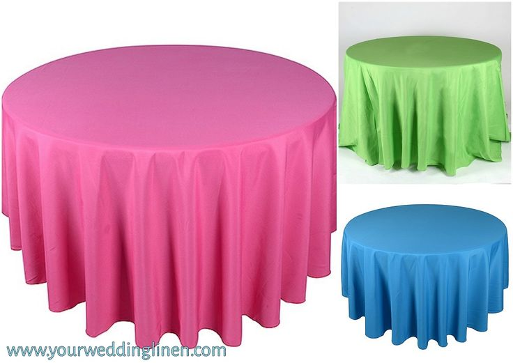 Get 90 inch round tablecloths for wedding decorations, hotels, special events and other occasion decorations at reasonable prices through Your Wedding Linen online store. Shop now: http://www.yourweddinglinen.com/tablecloths/polyester-round-tablecloths/90-round-polyester-tablecloths/