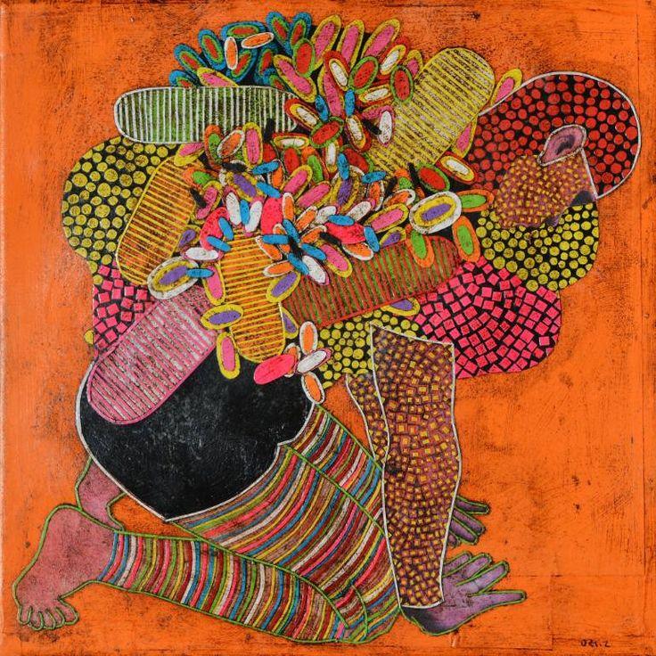 """Saatchi Art Artist Gustavo Ortiz; Collage, """"self-portrait (supplicant in…"""