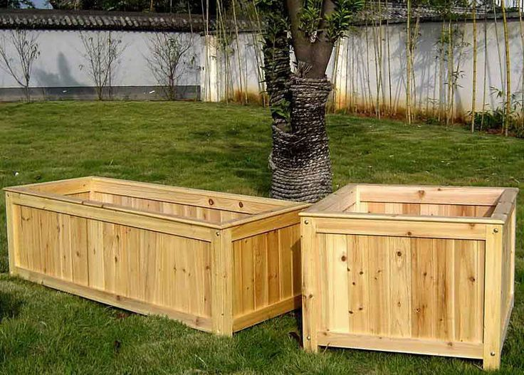 Cedar Wood Planter Container