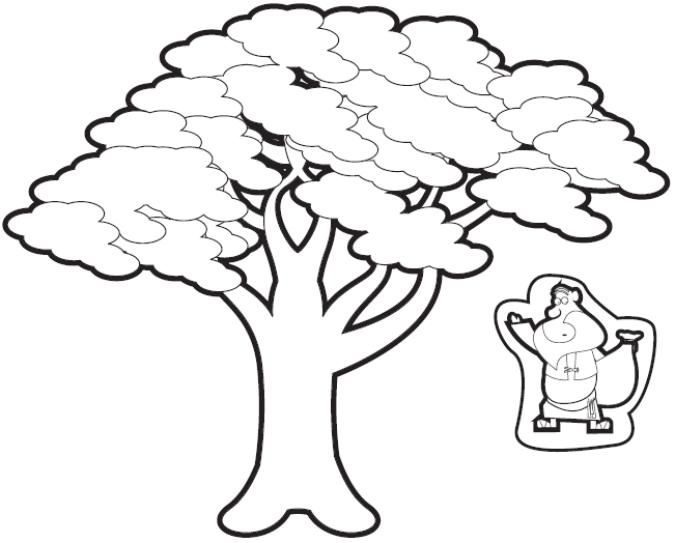 zacchaeus in the tree cut outs - Jesus Zacchaeus Coloring Page