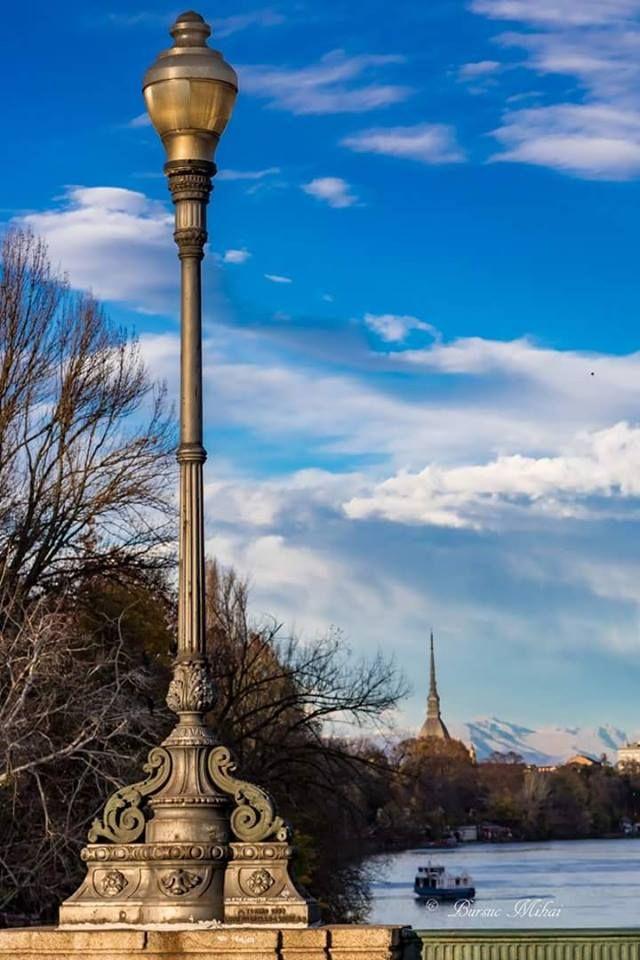 Uno dei classici scorci di Torino visti dal ponte Principessa Isabella.