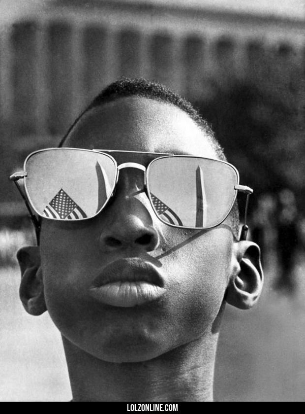 A kid (Austin Clinton Brown, age 9) attending Martin Luther King Jrs I have a dream speech, 1963.#funny #lol #lolzonline