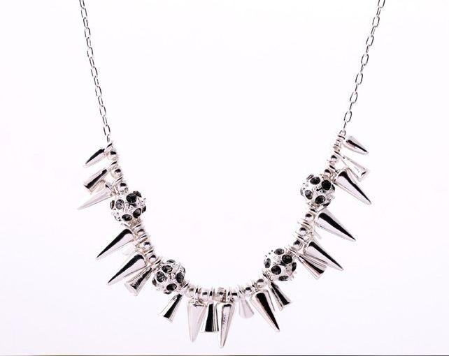 Silver Dainty Spike Necklace – Harper