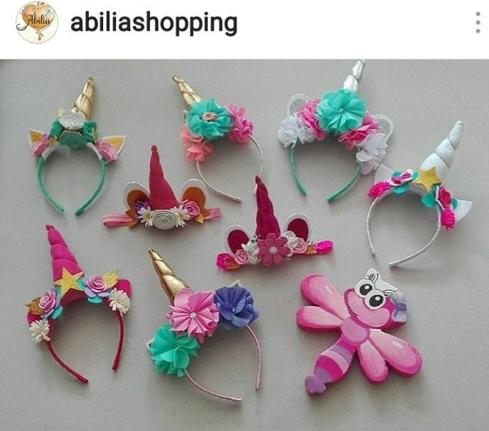 Accesorios unicornios Abilia shopping Whatsapp 3132196957