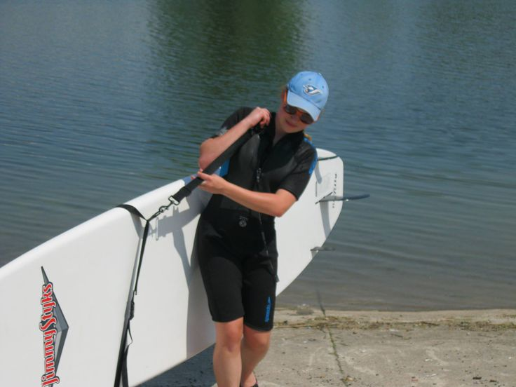 The very first day I ever got out on my #SUP board #training #Welland #adventure