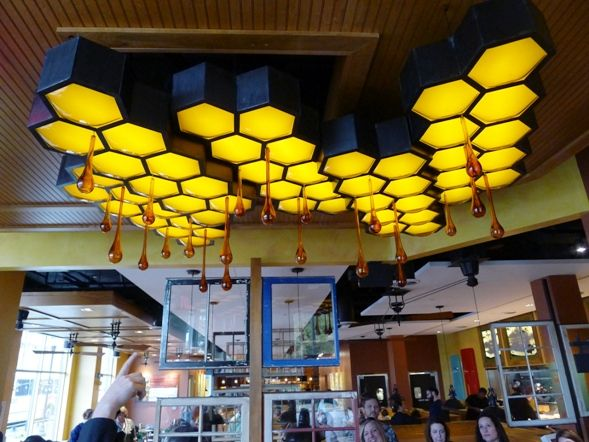 Honey comb sculpture at Tupelo Honey Cafe, Raleigh- NC Triangle Dining