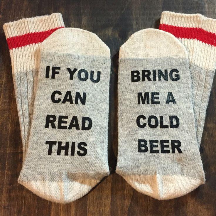 Bring me a beer socks, gift for him, mens stocking stuffer, christmas gift ideas, beer lover gift, craft beer, beer gift, beer lover gift by chelseyscardcreation on Etsy https://www.etsy.com/listing/474433485/bring-me-a-beer-socks-gift-for-him-mens