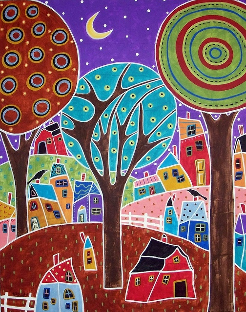 902 best paint a funky town images on pinterest etchings for Funky house artists