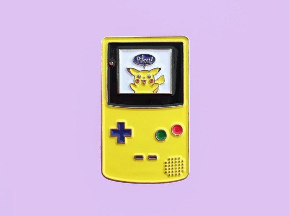 Pokemon Yellow Pikachu Gameboy Color Enamel Pin by LovetapPins