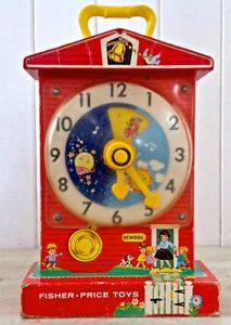 "Vintage 1964. Collection. Fisher Price. ""Teaching Clock"""