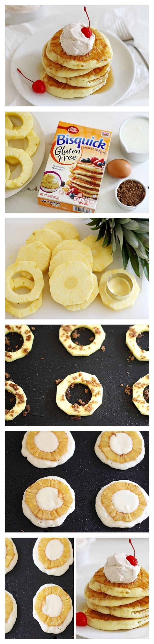 Pineapple Upside Down Pancakes for your gluten-free friends!