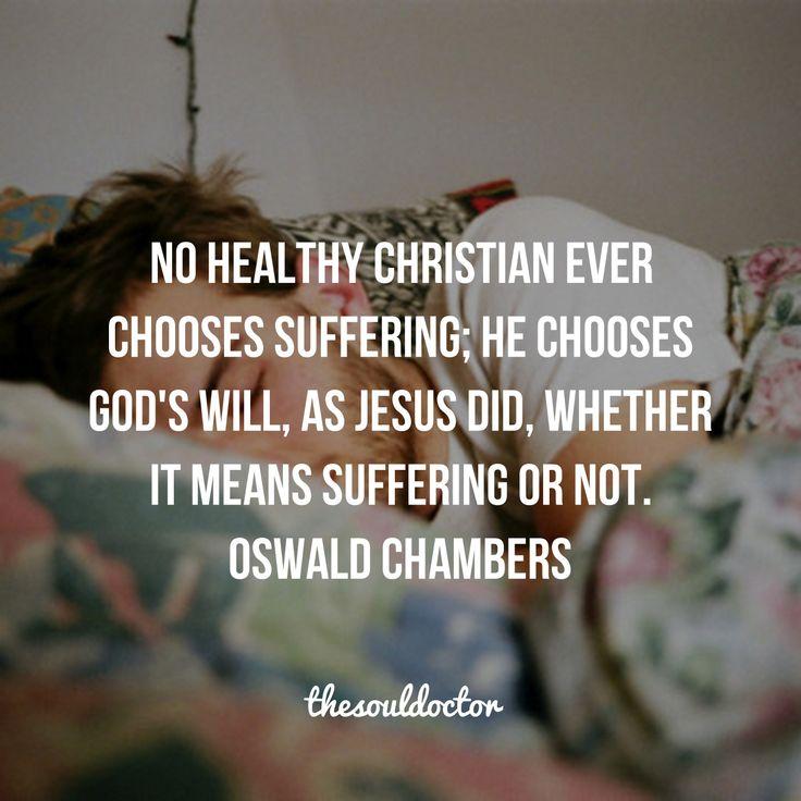 Suffering - Oswald Chambers