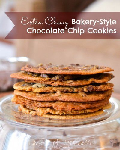 Extra Chewy Bakery Style Chocolate Chip Cookies | Recipe