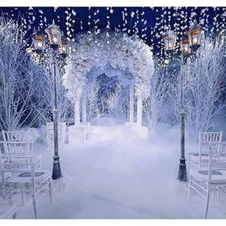Truly a winter wonderland. Decor by the talented @lidseventhouse and planner…