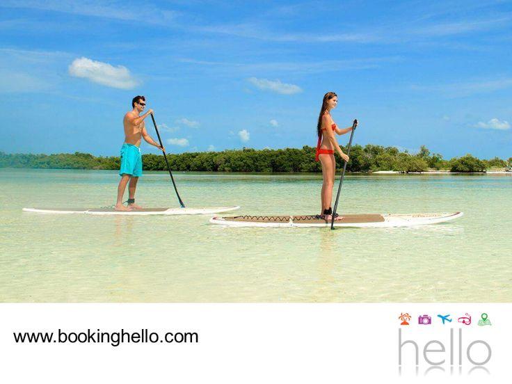 EL MEJOR ALL INCLUSIVE AL CARIBE. El turismo sustentable es una de las mejores formas de promover la diversión, sin tener que dañar o poner en peligro las playas o ecosistemas. El stand up paddle boarding, es un deporte que te permite disfrutar de las playas remando a pie y apreciar la claridad de las aguas color turquesa del Mar Caribe. En Booking Hello te invitamos a elegir alguno de nuestros packs a República Dominicana, para vivir esta y muchas experiencias más. #HelloExperience