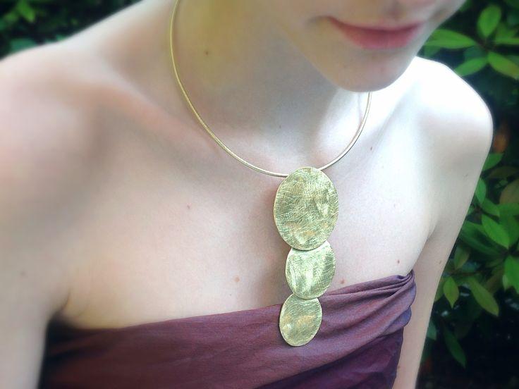 Handmade brass necklace- My ZiZi Jewels