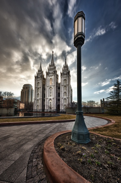 """""""Streets of Heaven"""" Salt Lake LDS Temple. The movement in this picture is incredible."""