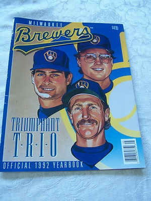 Milwaukee Brewers Official 1992 Yearbook Cards Inside Molitor Yount Gantner Trio | eBay