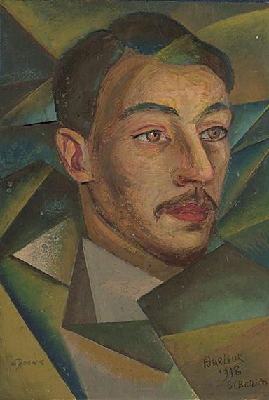 Russian poet in Siberia, 1918  David Burliuk
