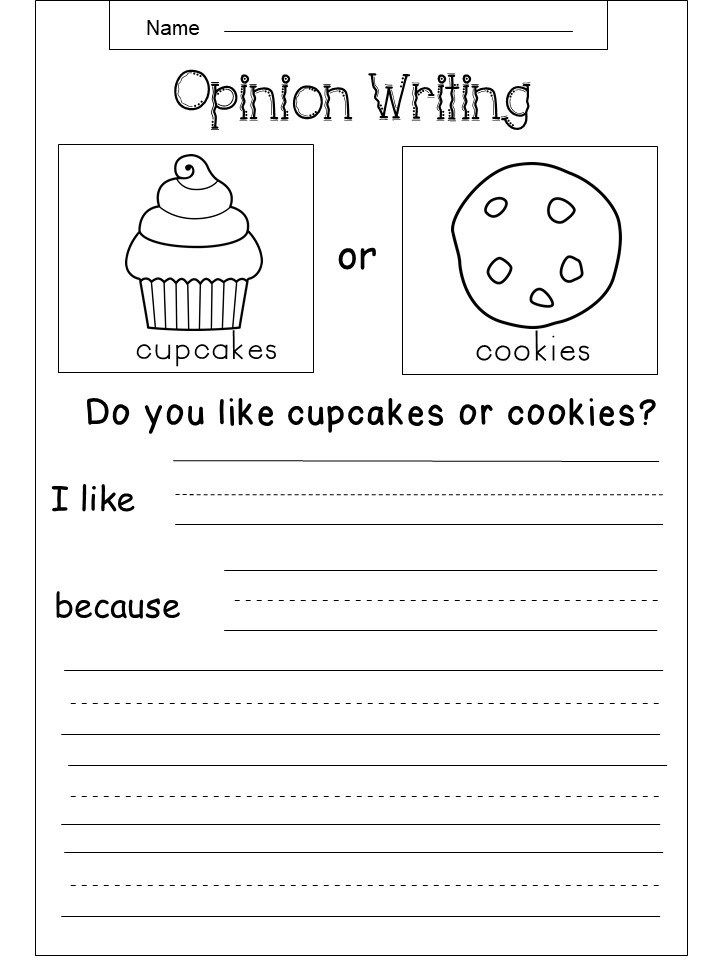 Free Opinion Writing Printable Kindermomma Com Third Grade Writing Kindergarten Writing Writing Worksheets