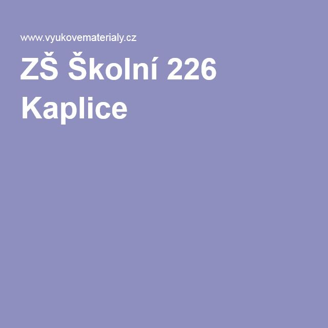 ZŠ Školní 226 Kaplice