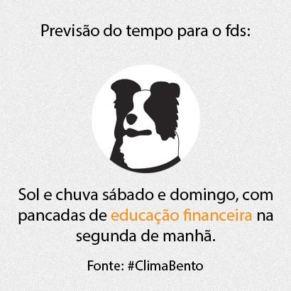 Previsão do tempo para o fds. Fonte: #ClimaBento