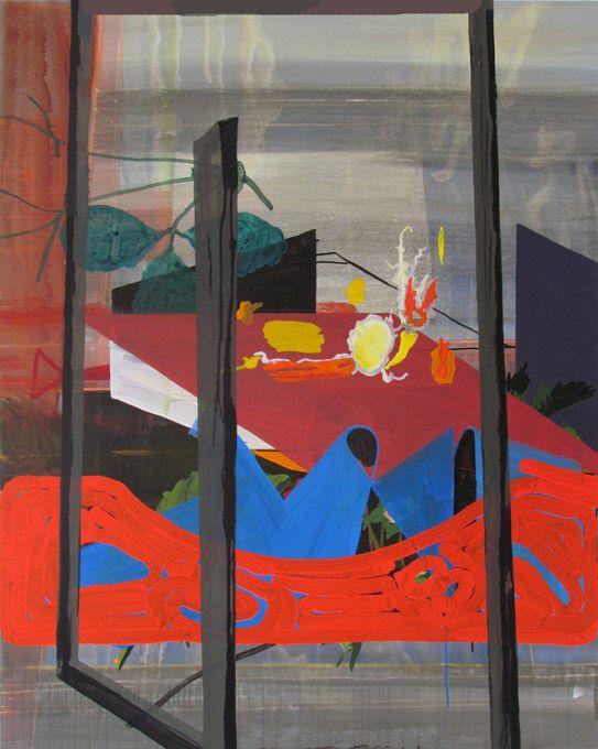 Julian Hooper Kingsland 2013 Acrylic on linen 150 x 120 cm