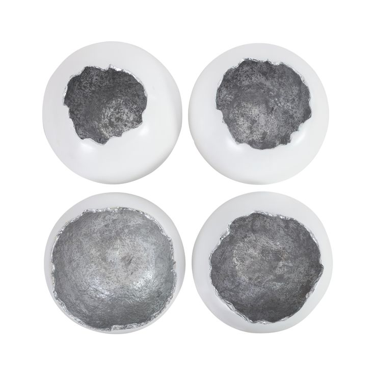 Buy Broken Egg Wall Art, White and Silver Leaf, Set of by Phillips Collection - Made-to-Order designer Accessories from Dering Hall's collection of Contemporary Transitional Decorative Objects.