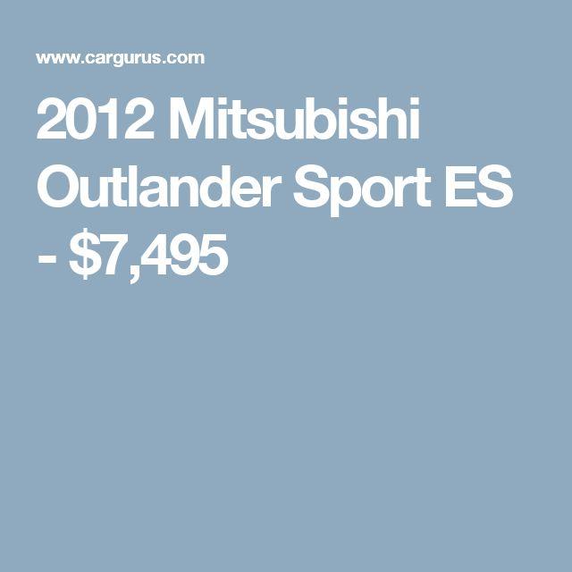 2012 Mitsubishi Outlander Sport ES - $7,495