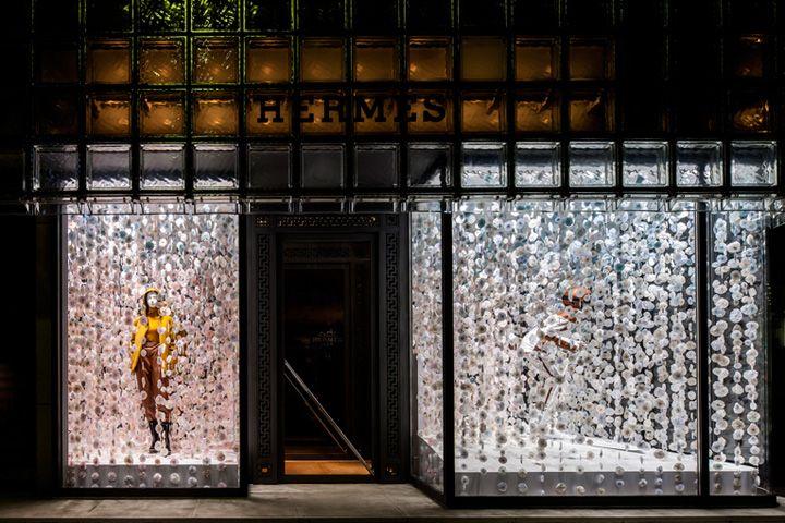 Hermes snow country windows by Christina Kim Tokyo Hermès snow country windows by Christina Kim, Tokyo