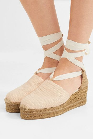 3dcde8b5374 Castañer - Campesina Canvas Wedge Espadrilles - Beige | Products ...
