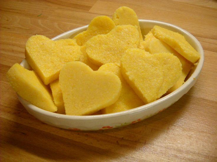 polenta hearts-καρδούλες από πολέντα