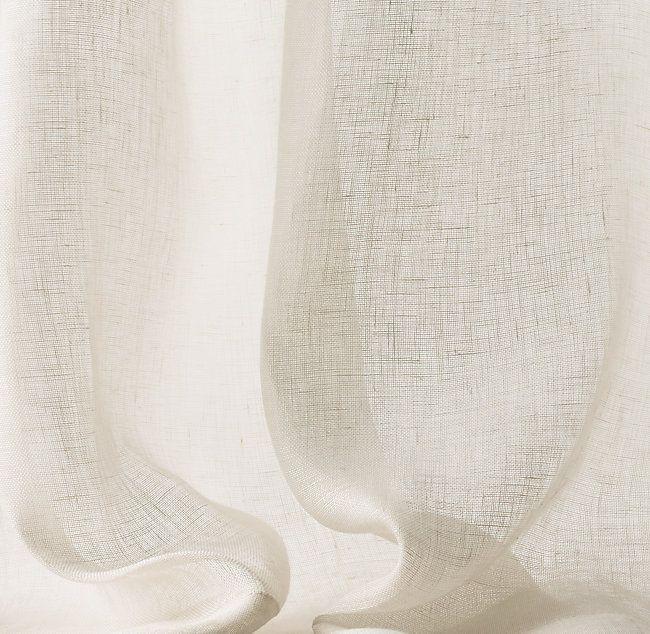 Belgian Sheer Linen Drapery Linen Drapery Linen Curtains