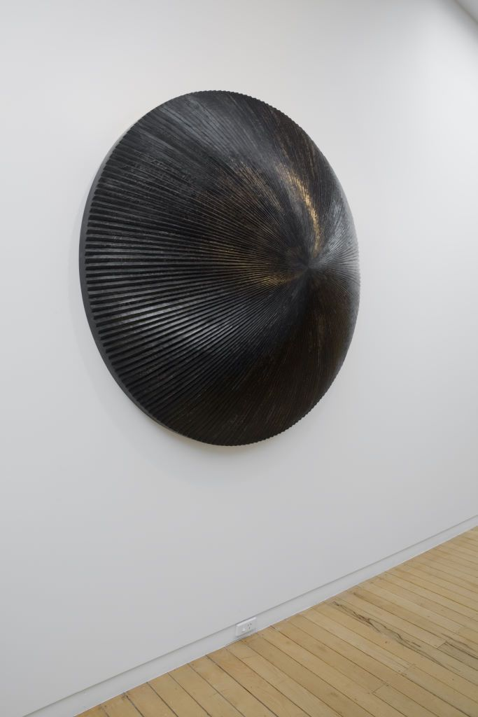 Brett Graham, Talcahuano, hand carved wood and lacquer, 1250 mm diameter. Photo by Jennifer French