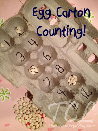 Egg Carton Counting - super easy way for kids to practice their counting