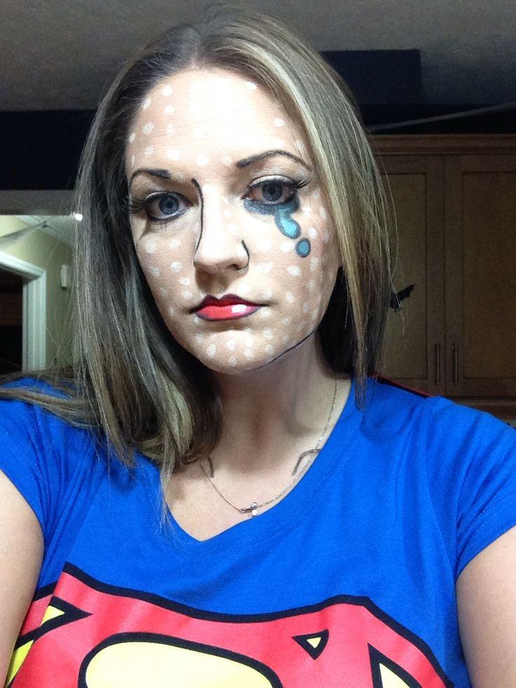 Superwoman comic makeup halloween pinterest