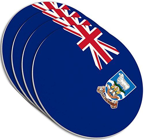 "Amazon.com: Custom & Cool {4"" Inches} Set Pack Of 4 Round Circle ""Grip Texture"" Drink Cup Coasters Made of Plastic w/ Cork Bottom w/ Federated States Of Micronesia Flag Design [Colorful White & Blue]: Home & Kitchen"
