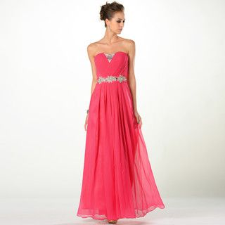 Strapless Beaded A-Line Evening Gown from #YesStyle <3 YesStyle Dress YesStyle.com.au