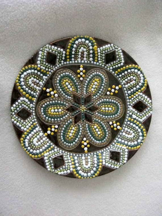 Hand painted mandala style decorative by ElenaPrikhodkoKnapp