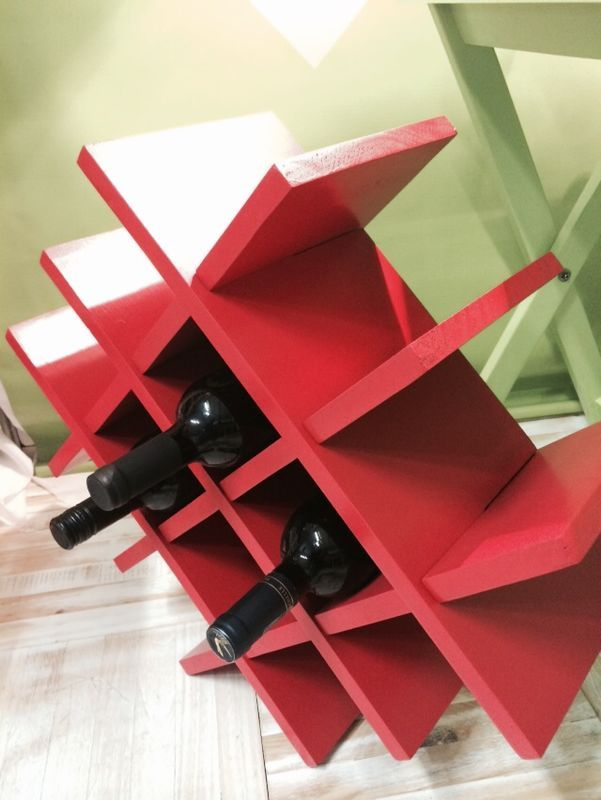 Wine rack at the 2014 Port Elizabeth HOMEMAKERS Expo