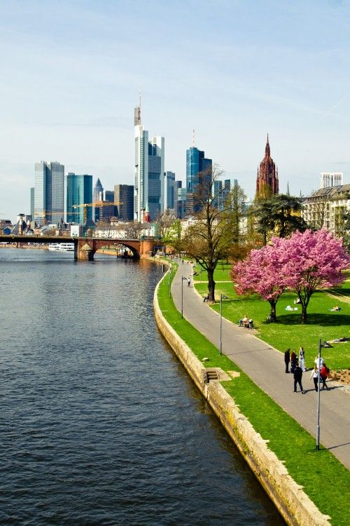 Frankfurt, Germany - would like to spend a little more time there one day.  Very cool place.